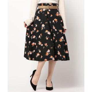 ダズリン(dazzlin)の《dazzlin》花柄 フラワープリント ベルト付スカート S(ひざ丈スカート)