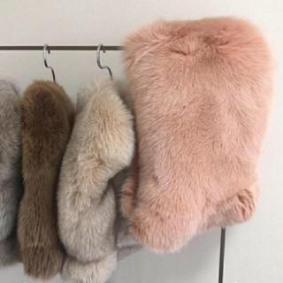 ドゥロワー(Drawer)の新品 マニマリス ファーフード(毛皮/ファーコート)