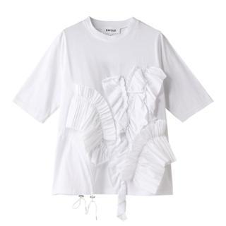 エンフォルド(ENFOLD)の美品 enfold エンフォルド ソフト天竺 Decorative Tシャツ(Tシャツ(半袖/袖なし))