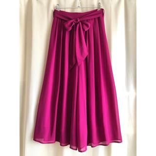しまむら - しまむらリボン付フューシャピンク スカートパンツガウチョ