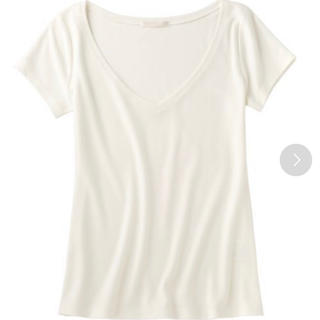 ピーチジョン(PEACH JOHN)のPJ   デコルタンVネックT  ホワイト(Tシャツ/カットソー(半袖/袖なし))