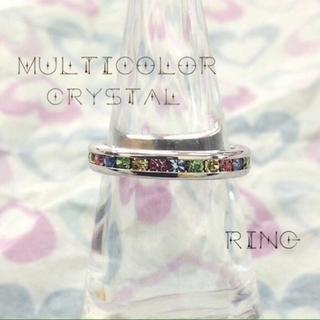 マルチ カラー クリスタル リング (10号、12号)(リング(指輪))