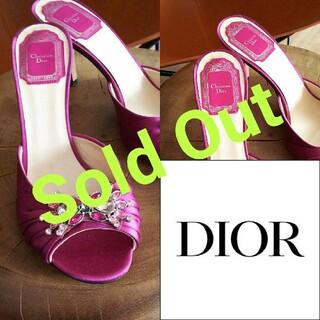 クリスチャンディオール(Christian Dior)のChristian Dior*オープントゥ サンダル クリスチャンディオール(サンダル)