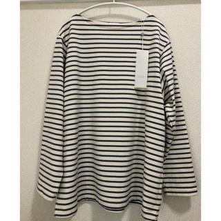 コモリ(COMOLI)の20ss comoli ボーダーボートネック サイズ1(Tシャツ/カットソー(七分/長袖))
