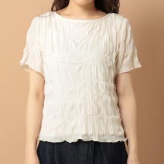 ミスティウーマン(mysty woman)のmysty woman バックリボンワッシャーTシャツ(シャツ/ブラウス(長袖/七分))