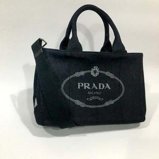 プラダ(PRADA)の送料込 2WAYバッグ デニムブラックPRADA(ショルダーバッグ)