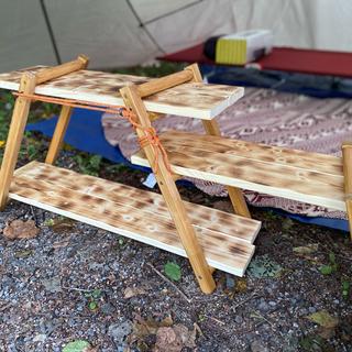 キャンプ棚