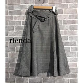リエンダ(rienda)のrienda ミモレ丈 チェックスカート(ひざ丈スカート)
