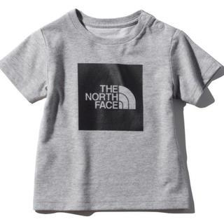 ザノースフェイス(THE NORTH FACE)の【新品未使用】ノースフェイス Tシャツ カラードビックロゴティー  グレー 80(Tシャツ)
