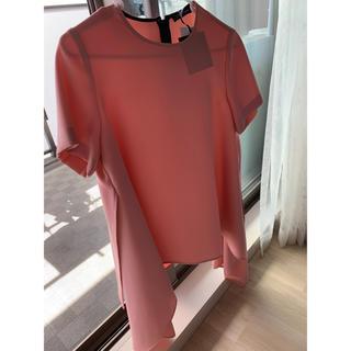 バーニーズニューヨーク(BARNEYS NEW YORK)のyokochan Half-sleeve Flared Blouse pink(シャツ/ブラウス(半袖/袖なし))