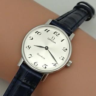 オメガ(OMEGA)のOH済 1974年製 オメガ ジュネーブ レディース 手巻き ブレゲ数字 極上品(腕時計)