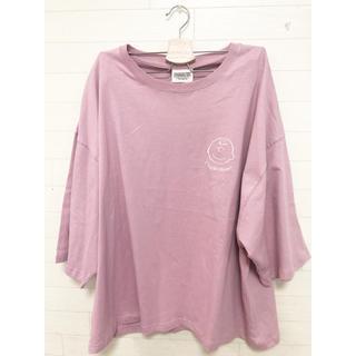 ピーナッツ(PEANUTS)の新品  3L/チャーリーブラウン スヌーピー 七部丈Tシャツ 大きいサイズ(Tシャツ/カットソー(七分/長袖))