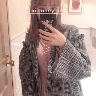 ハニーミーハニー(Honey mi Honey)の♡honey mi honey チェック ロングコート♡(ロングコート)
