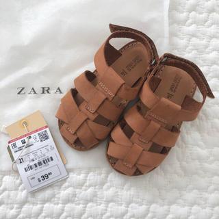 ザラキッズ(ZARA KIDS)のzarababy レザー サンダル(サンダル)