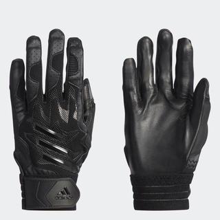 アディダス(adidas)のadidas アディダス バッティンググラブ 両手 ブラック DU9691 (バット)