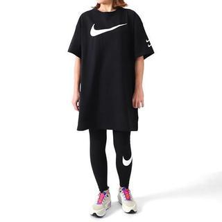 ナイキ(NIKE)のナイキ スウッシュ ウィメンズドレス ワンピース ブラック L(ひざ丈ワンピース)