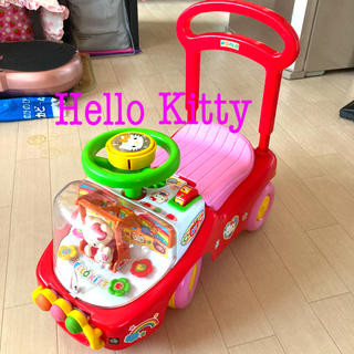 ハローキティ(ハローキティ)のHello Kitty 乗用玩具♪(手押し車/カタカタ)