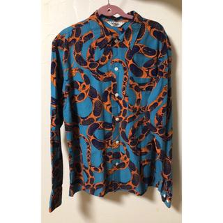 キャリー(CALEE)のcalee キャリー 柄シャツ 蛇柄 長袖シャツ Mサイズ(シャツ)