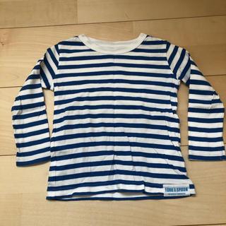 ドアーズ(DOORS / URBAN RESEARCH)の☆DOORS キッズ ボーダー長袖Tシャツ ブルー系 90cm☆ (Tシャツ/カットソー)