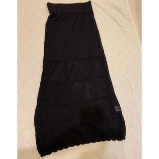ロンハーマン(Ron Herman)のrhc ronherman レースタイトロングスカート ブラック xs  美品(ロングスカート)