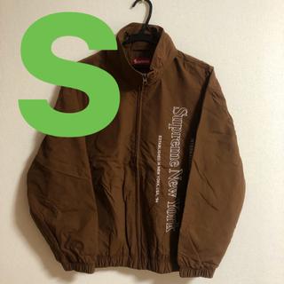 シュプリーム(Supreme)のsupreme Side Logo Track Jacket  brown s(ナイロンジャケット)