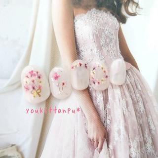 押し花 ケイト*ネイルチップ 付け爪 つけ爪 結婚式 ブライダル ウェディング(ネイルチップ)
