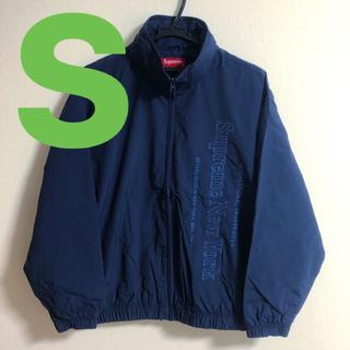 シュプリーム(Supreme)のsupreme side logo track jacket Navy s(ナイロンジャケット)