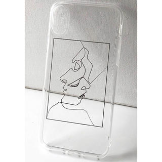 ディーホリック(dholic)のフェイスデザインクリアーiPhone11ケース(iPhoneケース)