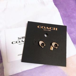 コーチ(COACH)の新品COACH ピアス Cマーク(ピアス)