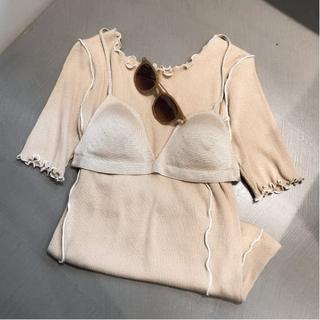 レイビームス(Ray BEAMS)のテレコ配色 メローハーフスリーブTシャツ(Tシャツ(半袖/袖なし))