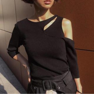 アメリヴィンテージ(Ameri VINTAGE)のアメリビンテージ スリップネックニット(Tシャツ(長袖/七分))