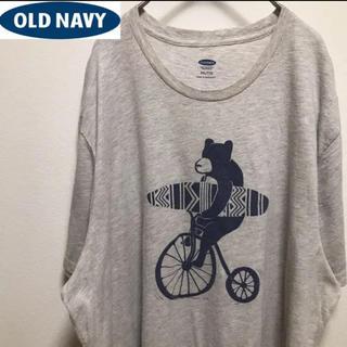 オールドネイビー(Old Navy)のold navyオールドネービー•クマ•プリントTシャツ•2XL•サーフ(Tシャツ/カットソー(半袖/袖なし))