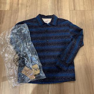 テンダーロイン(TENDERLOIN)のテンダーロイン コーデュロイシャツ TENDERLOINブルーXS ネイティブ柄(シャツ)