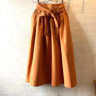 シャンブルドゥシャーム(chambre de charme)のchambre de charme   ウエスト帯リボン付き ロングスカート (ロングスカート)