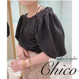 フーズフーチコ(who's who Chico)の新作¥4290【Chico】パワショルカットソー パフスリーブ(カットソー(半袖/袖なし))