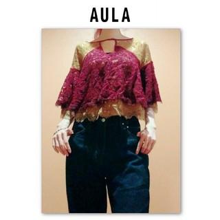 アウラアイラ(AULA AILA)のAULA アウラ ボリュームレースブラウス トップス(シャツ/ブラウス(半袖/袖なし))