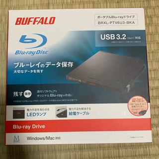 バッファロー(Buffalo)の新品 BUFFALO BRXLPTV6U3BKA ブルーレイドライブ ブラック(PC周辺機器)
