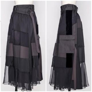 サカイ(sacai)のSacai コンボスカート シースルー パッチワーク ロングスカート サカイ(ロングスカート)