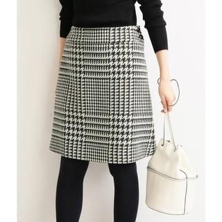 イエナ(IENA)のイエナ・ロービングチェック台形スカート(ひざ丈スカート)