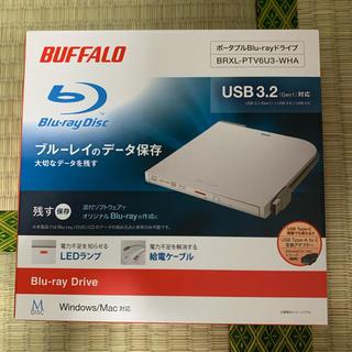 バッファロー(Buffalo)の新品 BUFFALO BRXLPTV6U3WHA ブルーレイドライブ ホワイト(PC周辺機器)