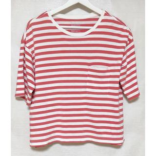 ムジルシリョウヒン(MUJI (無印良品))の無印良品 ピンクボーダー Tシャツ(シャツ/ブラウス(半袖/袖なし))