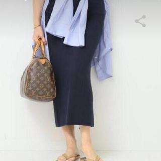 マディソンブルー(MADISONBLUE)のMADISON BLUE ワッフルスリットスカート(ロングスカート)