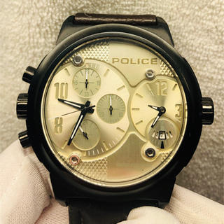 ポリス(POLICE)の美品 POLICE ポリス メンズ  腕時計(腕時計(アナログ))