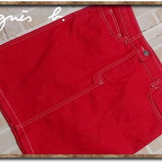 アニエスベー(agnes b.)のアニエスベー 赤デニムミニスカート(ミニスカート)