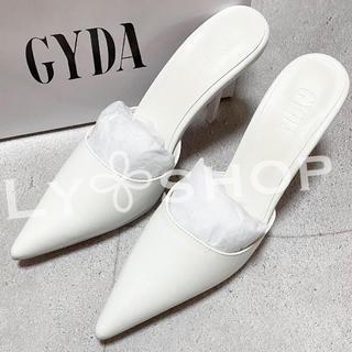 ジェイダ(GYDA)のGYDA 新品 GYDA ポインテッドミュール ホワイト Lサイズ(ミュール)
