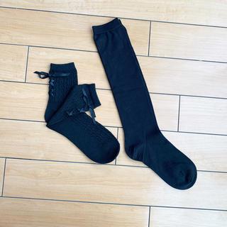 未使用 レディース 黒 靴下 2足セット(ソックス)