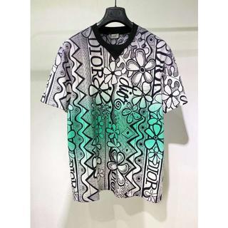 ディオール(Dior)の[DIOR] コットン オーバーサイズ Tシャツ グリーン(Tシャツ/カットソー(半袖/袖なし))