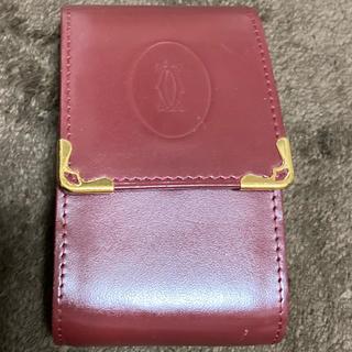 カルティエ(Cartier)のカルティエ シガレットケース カードケース ワインレッド 財布 Cartier(名刺入れ/定期入れ)