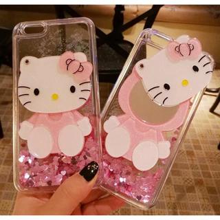 ハローキティ(ハローキティ)のミラー付きiPhone78SEケース ハローキティサンリオhello kitty(iPhoneケース)