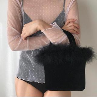 ロキエ(Lochie)のthe virgins feather vanity bag(ハンドバッグ)